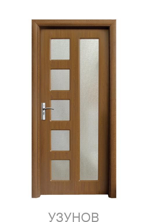 Интериорна HDF врата с код 048, цвят Бял