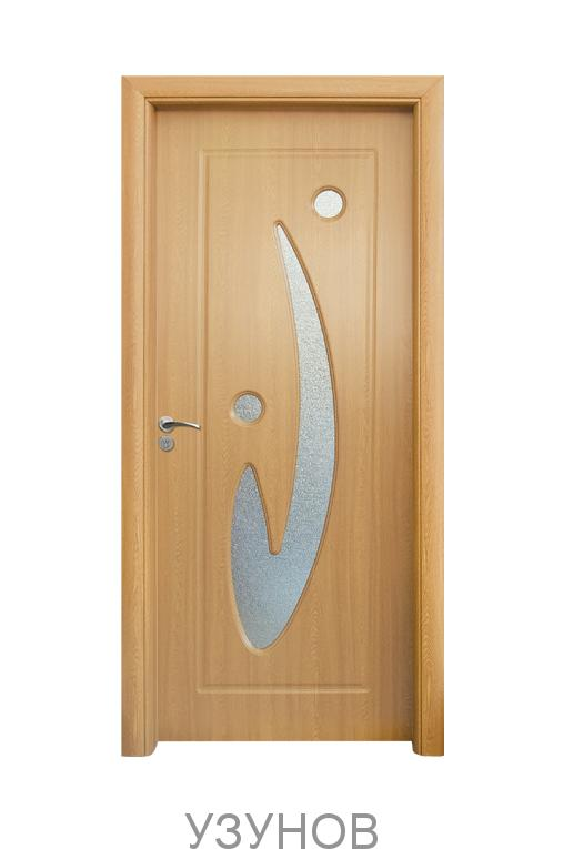 Интериорна HDF врата с код 070, цвят Светъл дъб