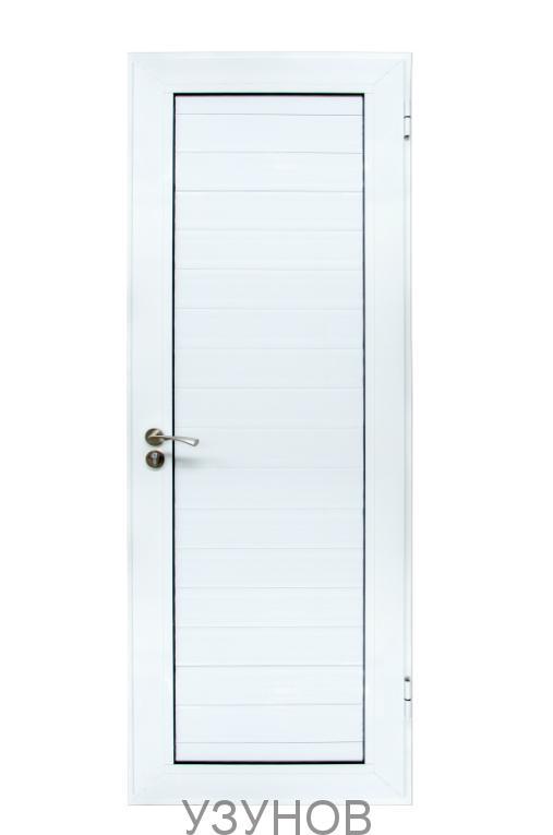 Алуминиева врата за баня Бяла