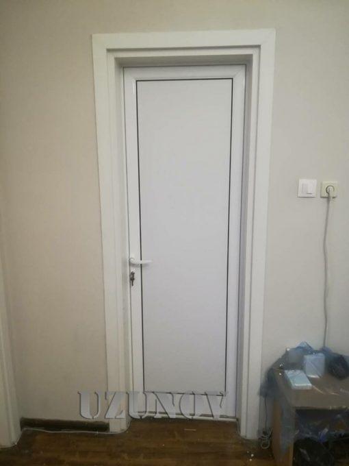 красива Бяла плътна алуминиева врата