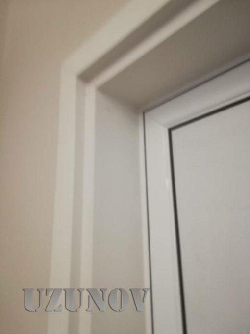 здрава алуминиева врата бяла за баня