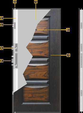 технически данни за врата 516