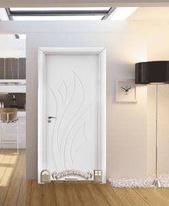 Интериорна HDF врата 033-P Бял